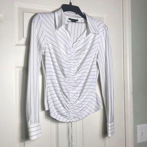 HOST PICK🎉🎊ECI white/black blouse size S Petite
